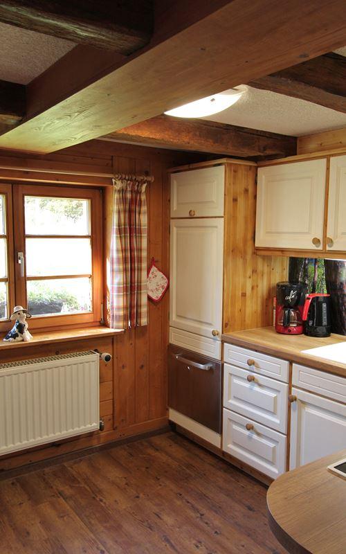 Küche mit Kühlschrank Ferienwohnung Lippenhof