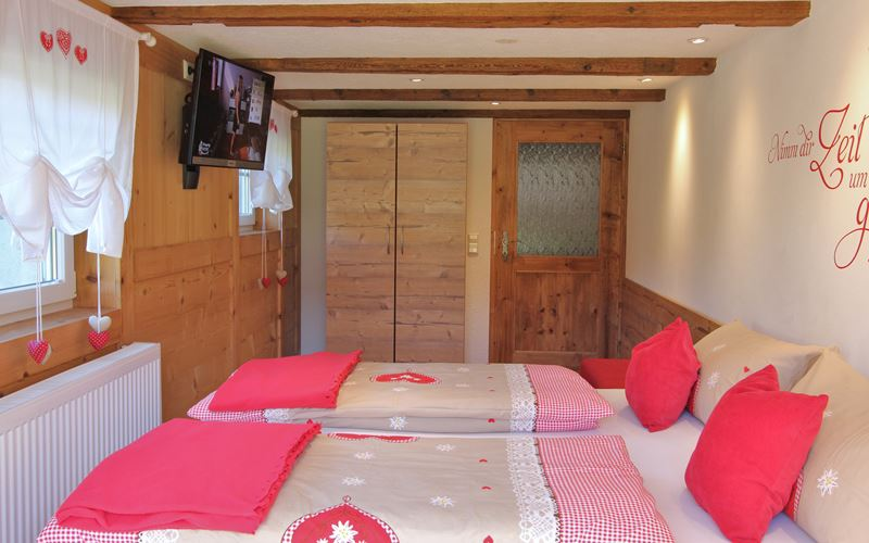 TV im 3. Schlafzimmer Ferienwohnung Lippenhof